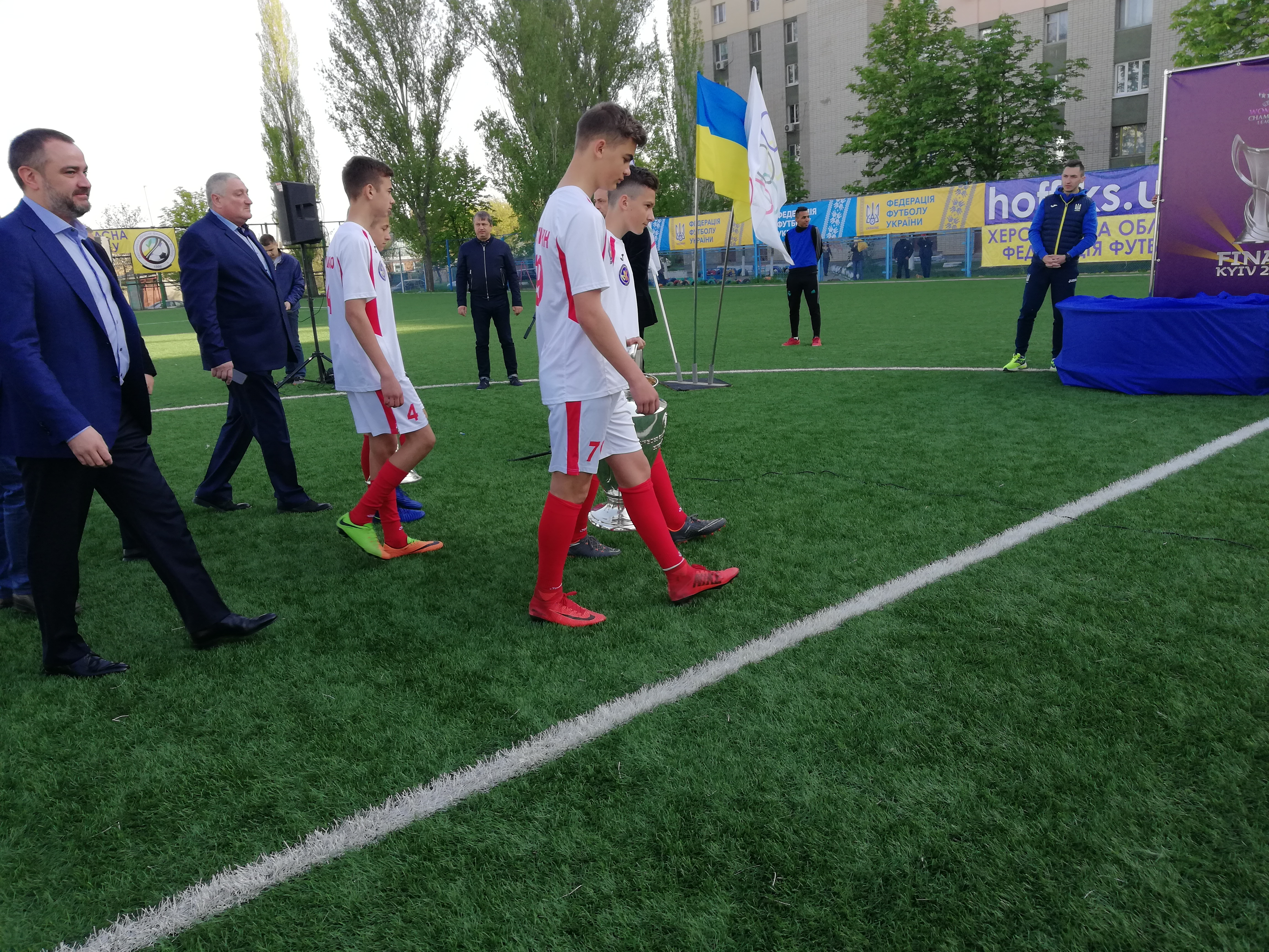 У Херсоні зустріли Кубки Ліги чемпіонів УЄФА і Ліги чемпіонів серед жінок