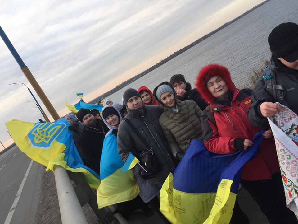 Херсонці створили ланцюг єдності до Дня Соборності України