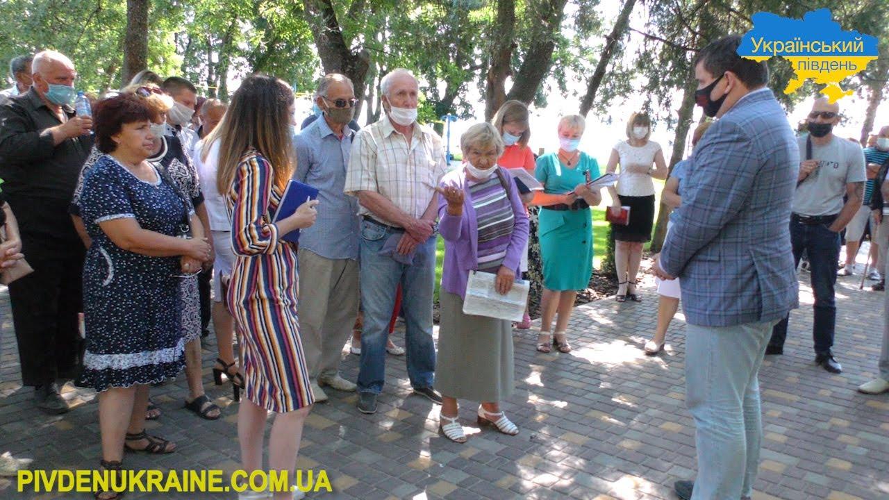 Юрій Гусєв зустрівся з жителями Бериславського району (Відео)