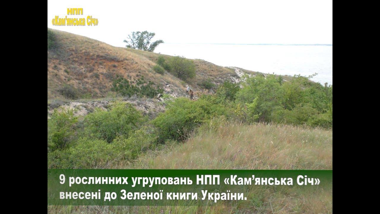 9 рослинних угруповань Національного природного парку «Кам'янська Січ» внесені до Зеленої книги України (Відео)
